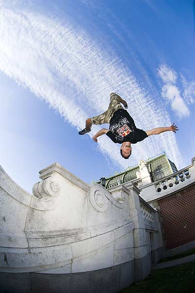 Freerunner in Wien Foto: Predrag Vuckovic/Red Bull