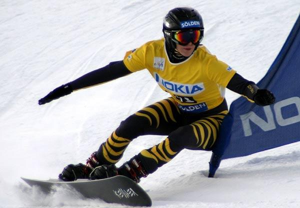 Amelie Kober beim FIS Snowboard Weltcup 2006 Foto: FIS, Oliver Kraus