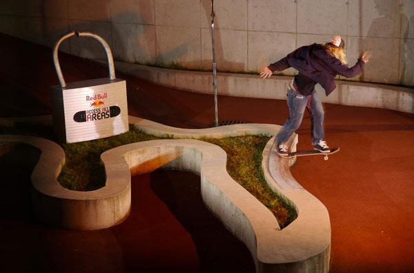 Philipp Schuster skatet im Knast Foto: Stefan Eigner
