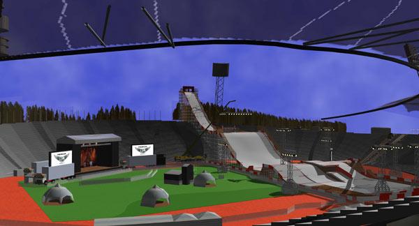 So sieht es am 1. Dezember im Olympiastadion aus Foto: Nokia Air & Style