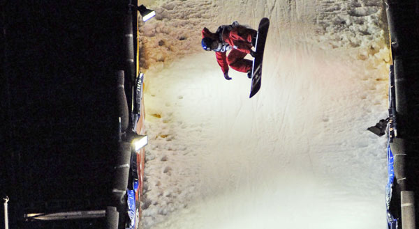 Florian Mausser beim FIS Snowboard Weltcup in Stockholm  Foto: FIS