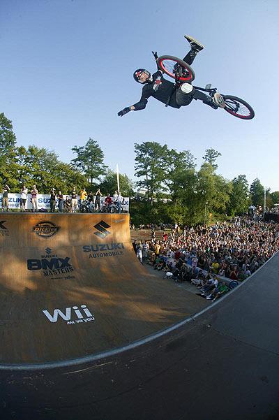 Mat Hoffman bei den BMX Masters in Köln.  Foto: woodagephoto