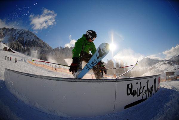 Freeskier kommen im Januar zum ersten Style Camp ins Kleinwalsertal Foto: Crystal Ground