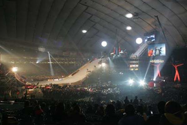 Beeindruckendes Szenario: Das Nissan Stadion beim X-Trail 2006 Foto: TTR