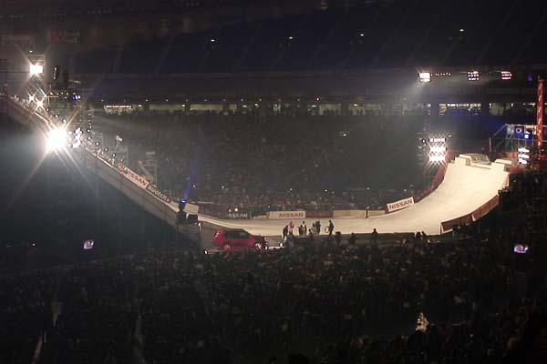 Beeindruckendes Set-up im Tokyo Dome, Nissan XTrail Jam 2007 Foto: TTR