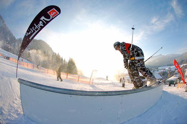 Rider Michael Stannat bei der Wir Schanzen Tournee.  Foto: Stefan Eigner