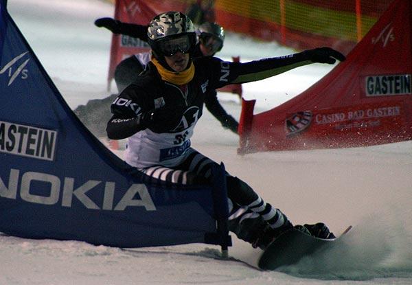 Anke Karstens wurde Zweite beim Snowboard FIS Weltcup in Bad Gastein.  Foto: Oliver Kraus, FIS