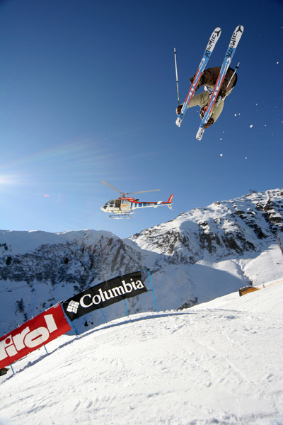Freeskier Tobi Tritscher.  Foto: Austrian Freeski Open, Tom Bause