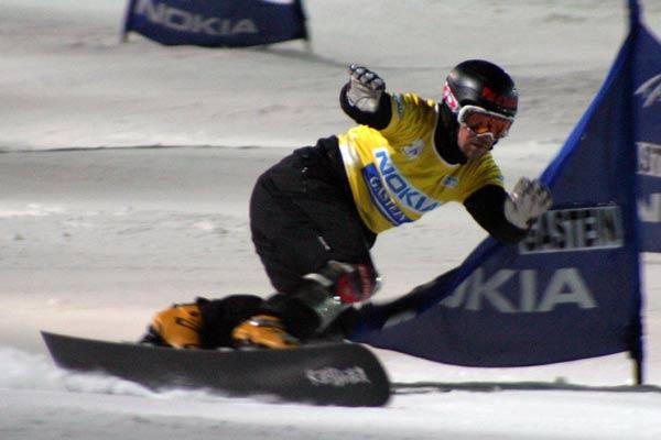 Mathieu Bozzetto beim FIS Snowboard Weltcup in Bad Gastein Foto: Oliver Kraus, FIS