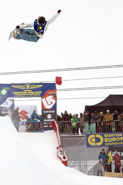 Kelly Clark gewann das Semifinal in der Halfpipe bei den Damen.  Foto: Marcel Lämmerhirt
