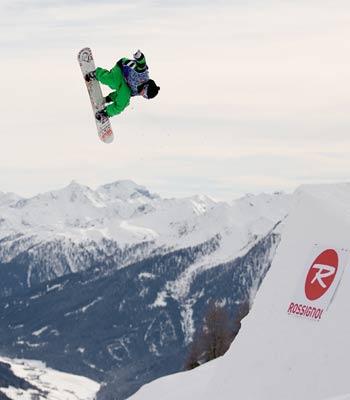 Snowparktour 2008: Rider Dominik Weghaupt im Y-Park Sillian Foto: Lorenz Holder