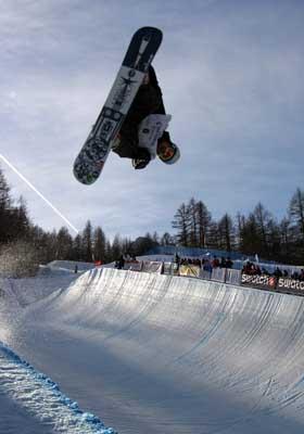 Rider Markus Malin beim FIS Snowboard Weltcup  Foto: Oliver Kraus, FIS