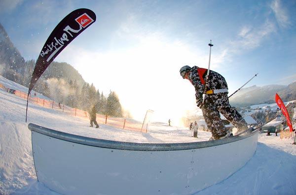 Event für Snowboarder und Freeskier: Die Iron Night im Kleinwalsertal.  Foto: Stefan Eigner