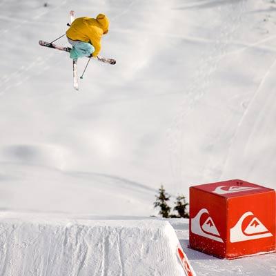 Der Sieger der Freeskier: Marlon Holzmann aus Vandans.  Foto: Lorenz Holder