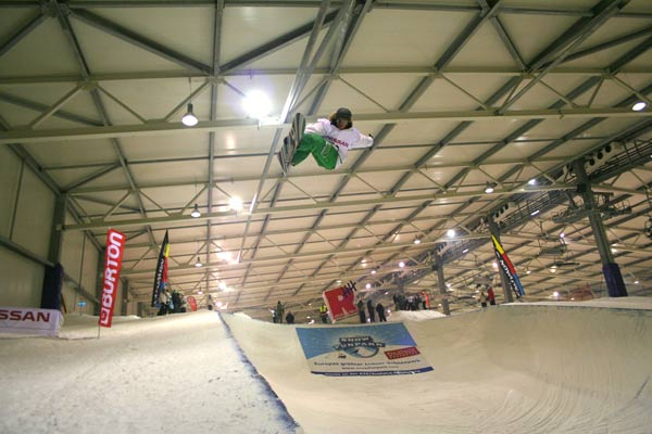 Christophe Schmidt im Snow Funpark Wittenburg.  Foto: Snow Funpark