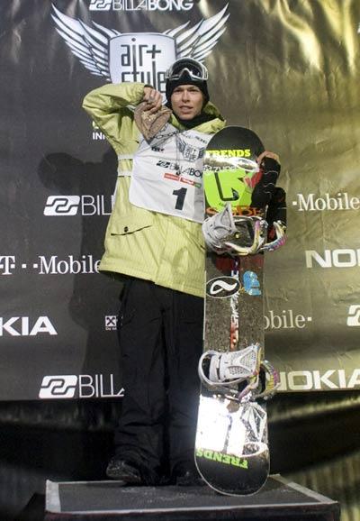 Kevin Pearce gewinn den Air & Style 2008 in Innsbruck.  Foto: Oliver Kurzemann