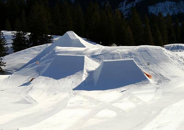 Der Fellhornpark - das Setup wächst.  Foto: style and sport
