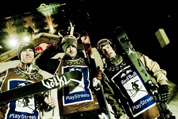 Die Gewinner der Red Bull Playstreets 2008 in Bad Gastein.  Foto: Flo Hagena