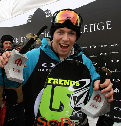 Hat schon eine äußerst erfolgreiche Snowboard-Saison hinter sich: Kevin Pearce in Oslo.  Foto: TTR