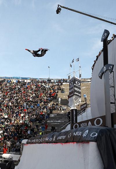 Konnte keinen neuen Weltrekord aufstellen: Terje Hakonsen bei der Arctic Challenge 2008.  Foto: Rasmus Werner