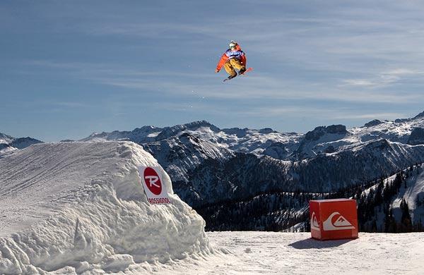 Manuel Lindmoser gewann bei den Snowboardern.  Foto: Lorenz Holder