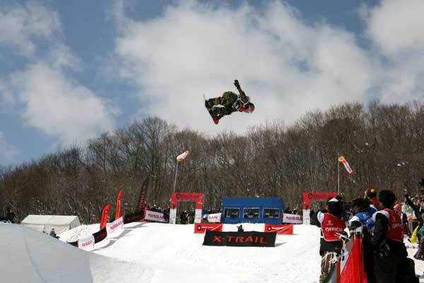 Rider in der Halfpipe der Nippon Open 2008 in Japan.  Foto: TTR