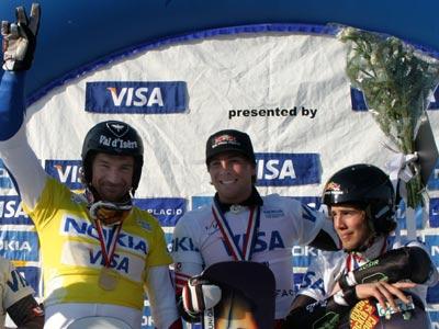 Mathieu Bozzetto widmete den Sieg von Lake Placid seinem ersten Trainer Foto: FIS