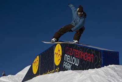 Rider Wolfgang Hillberger bei der Snowpark Tour Foto: Lorenz Holder
