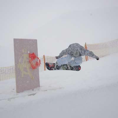 Snowboard- und Kunstperformance beim Ästhetiker Jam 2008 Foto: Veranstalter