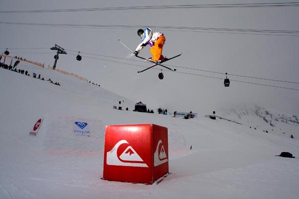 Florian Geyer siegte bei den Freeskiern.  Foto: Lorenz Holder