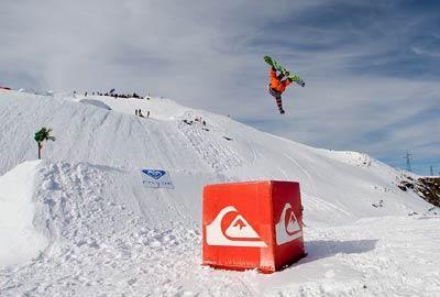 Most impressive Rider Patrik Huber beim Snowpark Tour Finale 2008 Foto: Lorenz Holder