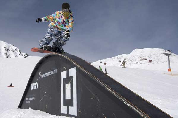 Wild & Style - Rider bei der Park Party im Snowpark Lenzerheide Foto: Jan Zach, Qparks