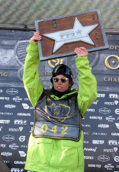 Kevin Pearce ist der TTR Gesamtsieger 2007/2008 Foto: TTR
