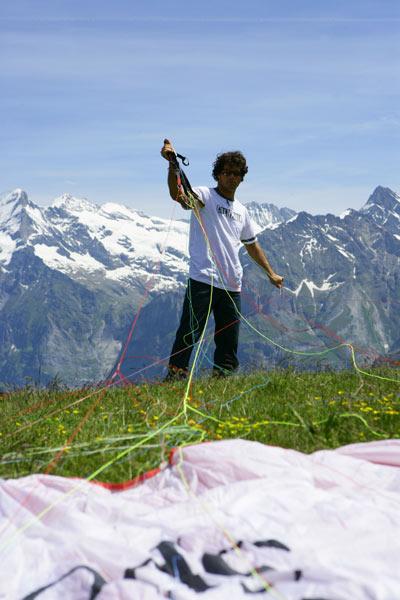 Mathias Roten bei den Outdoor Games in Interlaken.  Foto: Thilo Brunner