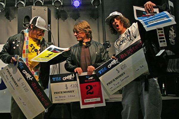 Preisverleihung beim O Neill Barbecue 2008. Foto: Jan Drechsler