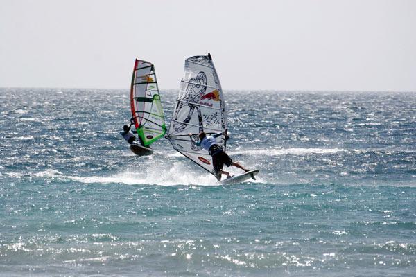 Windsurf Wettkampf Toro Andaluz, Spanien.  Foto: DaMike, EFPT