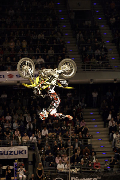 Andrè Villa bei der Night of the Jumps in Berlin. Foto: Oliver Franke, IFMXF.com
