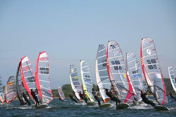 Deutscher Windsurf Cup 2008 auf Rügen.  Foto: Gabi Wild