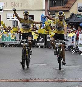 DSie Gewinner der Bike Trans Germany 2007.  Foto: Veranstalter