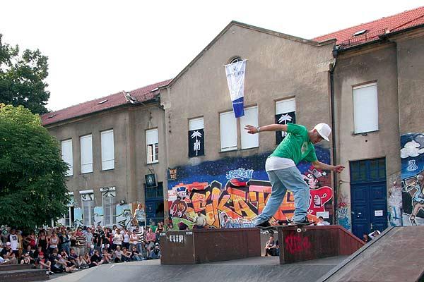 Impressionen vom Skate Contest 2007 in Bautzen.  Foto: Rene Rössel/Steinhaus