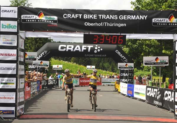 Gewinner der Männerwertung: Lukas Gerum und Roland Goldener vom Team Texpa-Simplon.  Foto: Oliver Kraus/ Smaragd Medien GmbH