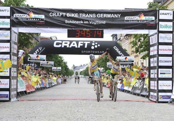 Gewinner der 5. Etappe: Martin Kraler und Thomas Dietsch.  Foto: Oliver Kraus/ smaragd medien GmbH