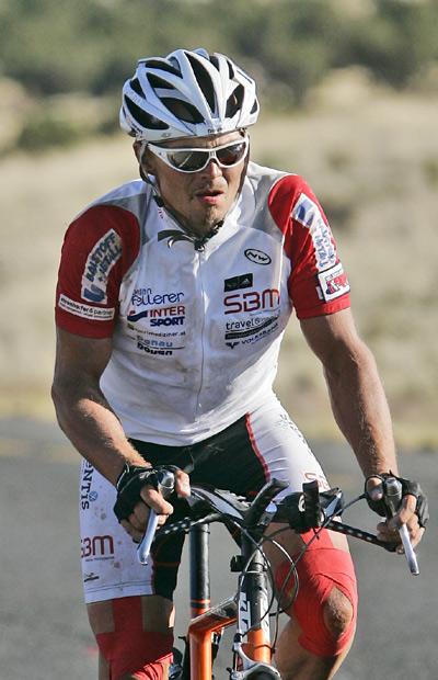 Extremradfahrer Gerhard Gulewicz.  Foto: werner ehrenhoefer