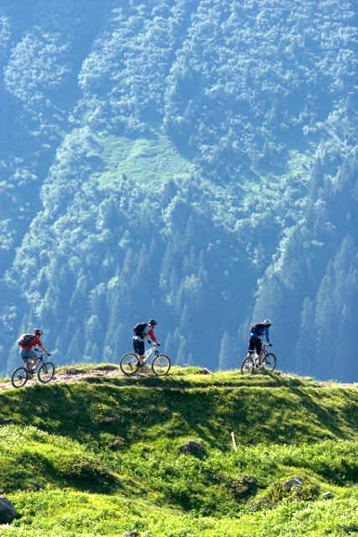 Biken im Kleinwalsertal.  Foto: Markus Greber