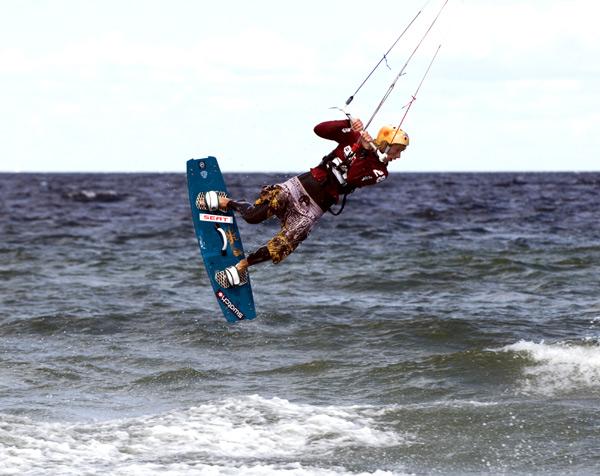 Am Weissenhäuser Strand waren diesmal Qualifikationsläufe für die DM möglich.  Foto: Frank Süss