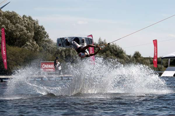 Wakeboard-Action bei den T-Mobile Extreme Playgrounds.  Foto: Veranstalter