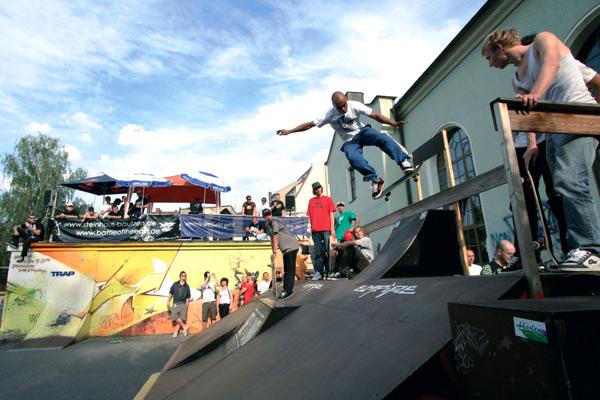 Eindrücke vom 9. Bautzener Skatecontest 2007.  Foto: Steinhaus/ Reno Rössel