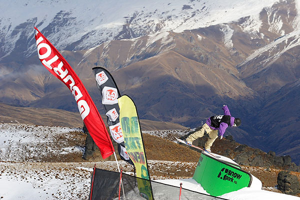 Die TTR World Tour in Neuseeland.  Foto: TTR World Snowboard Tour/Miles Holden