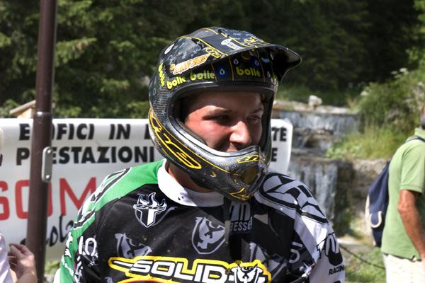 Sieger im 2. Lauf des iXS European Downhill Cups 2008 Andreas Sieber.  Foto: Thomas Dietze