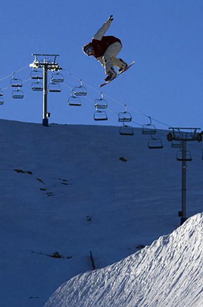 Carlson bei der TTR World Snowboard Tour.  Foto: McCormack